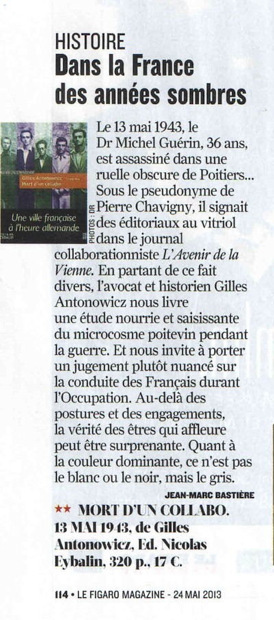 Article Figaro Magazine